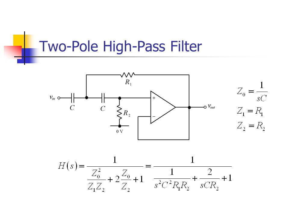 Two-Pole High-Pass Filter