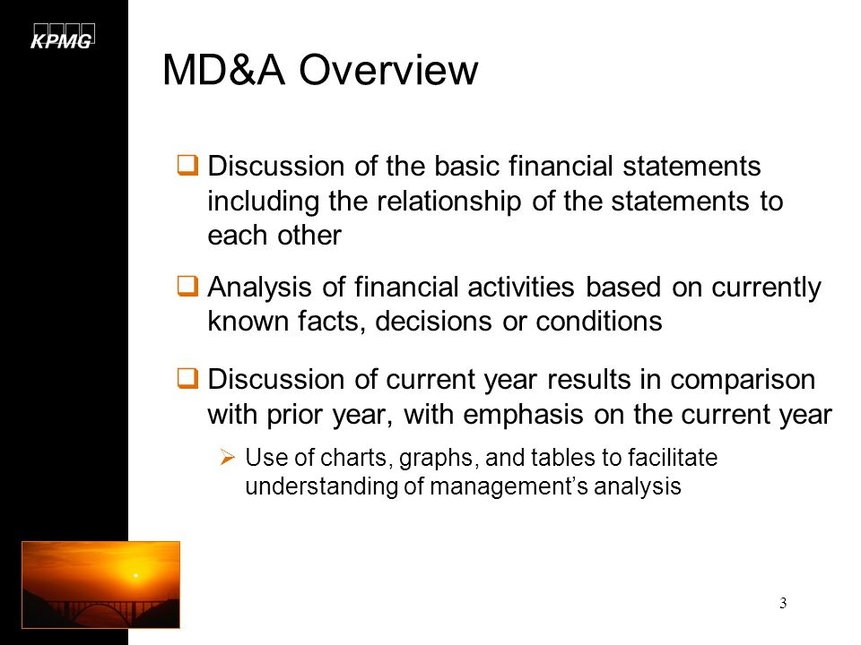 Chapter 7- Management's Discussion and Analysis (MD&A