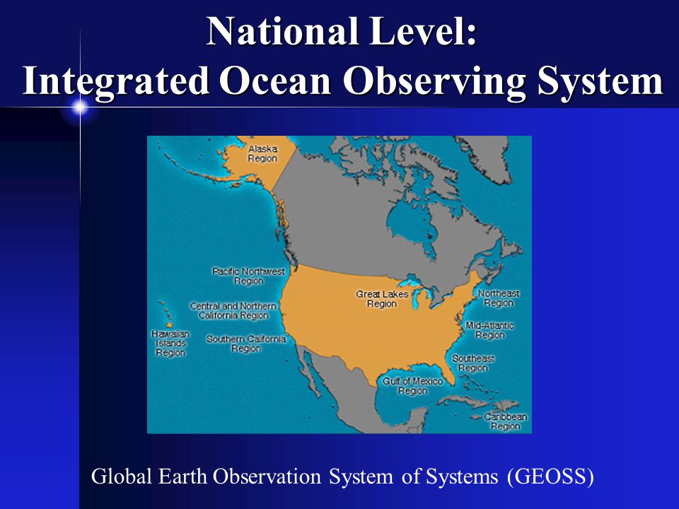 National Level: Integrated Ocean Observing System Global Earth Observation System of Systems (GEOSS)