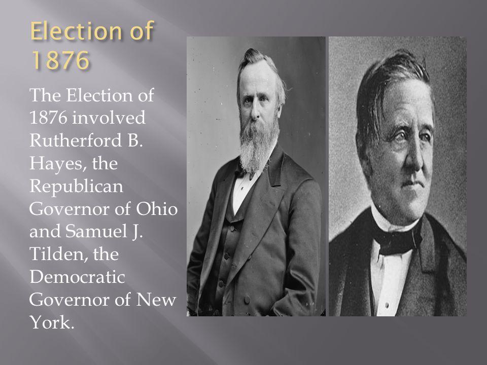 Image result for Rutherford B. Hayes (left) and Samuel J. Tilden