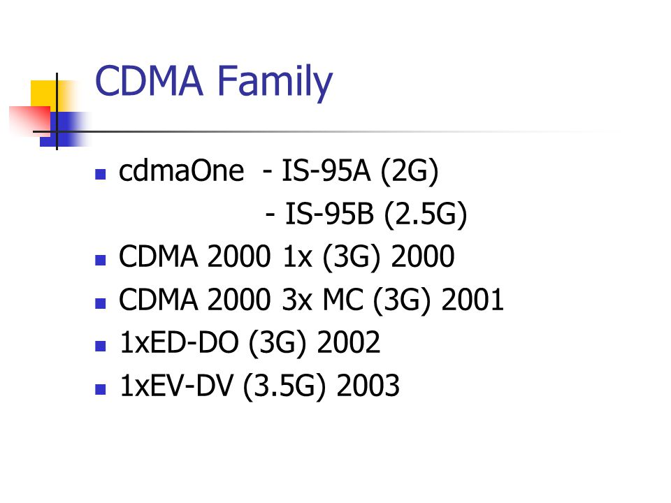 is 95b for 2.5 g cdma