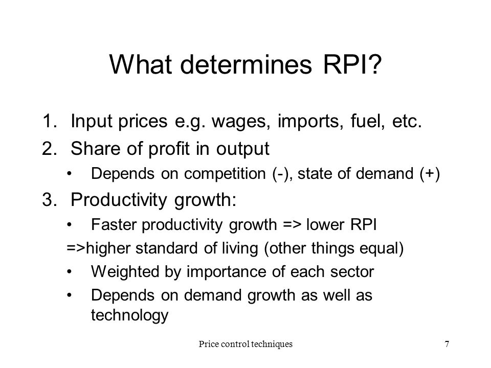 importance of price control