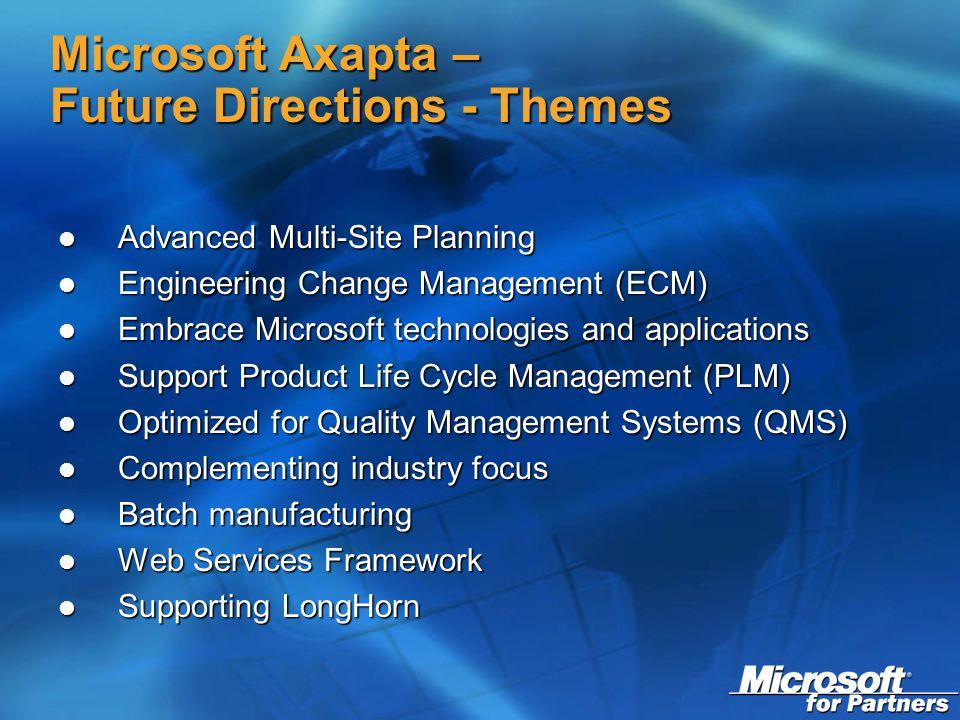Navision & Axapta Product Update Joyce Leung, Technical