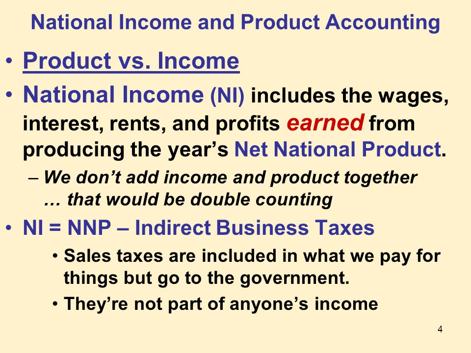 4 National Income and Product Accounting Product vs.