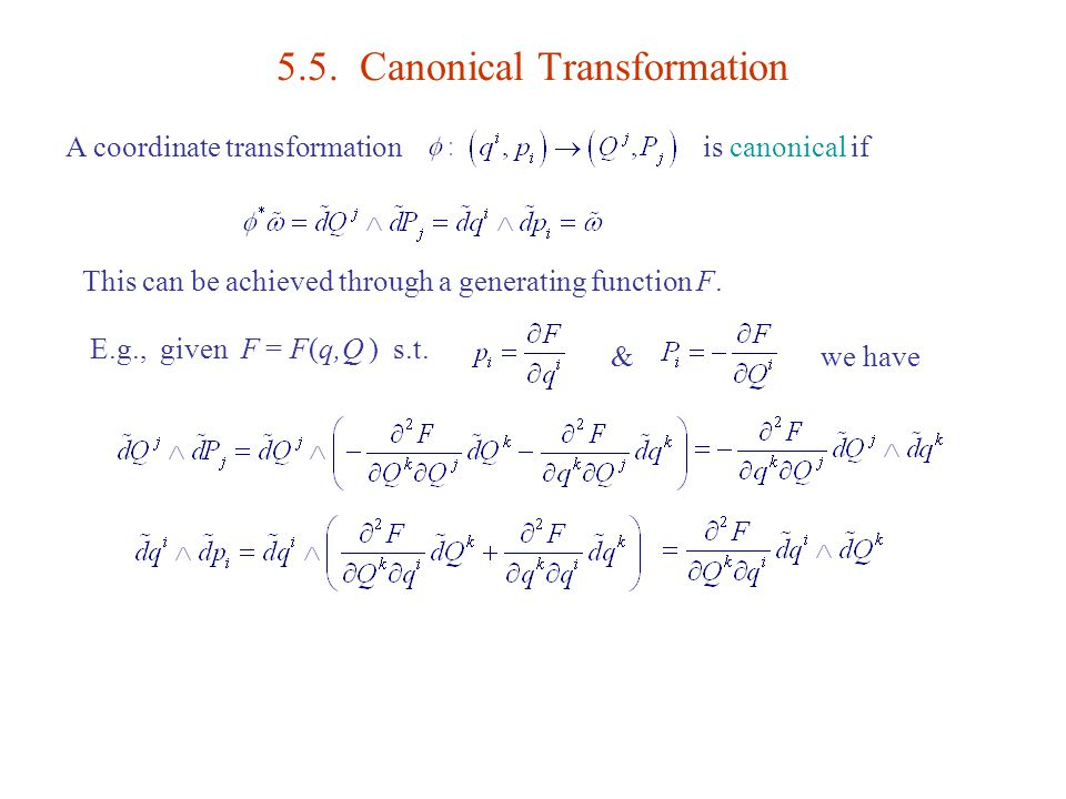 Canonical transformation: solved examples | csir net preparation.