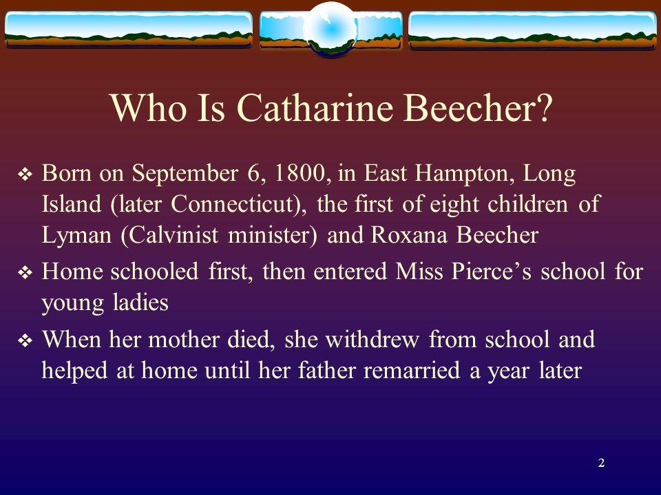 who was catherine beecher
