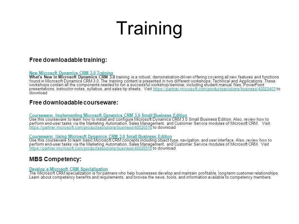 Microsoft CRM 3 0 Training Options February ppt download