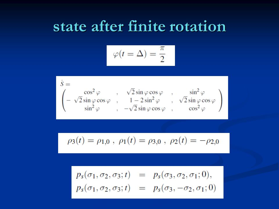 state after finite rotation