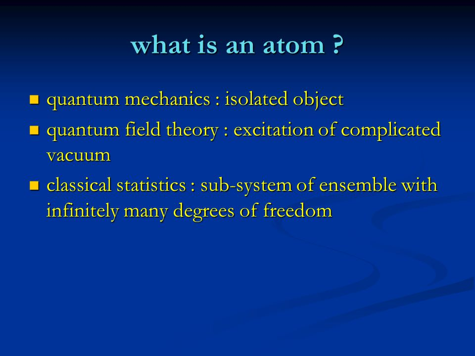 what is an atom .
