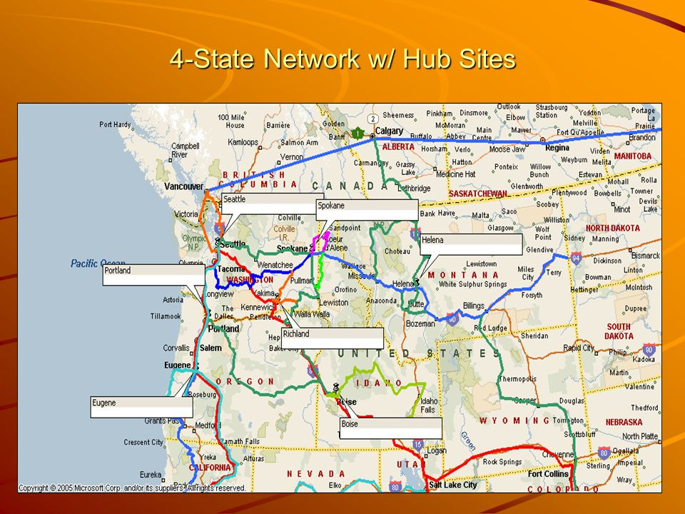 4-State Network w/ Hub Sites