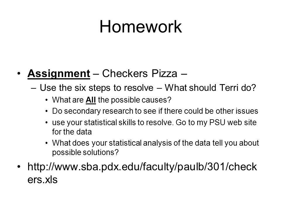 statistics homework questions