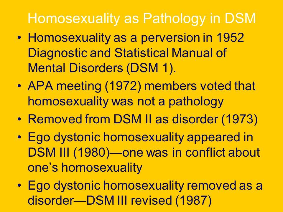 Ego dystonic homosexuality