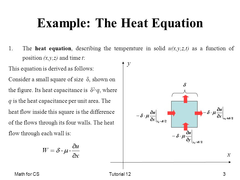 Math for CSTutorial 121 Heat Equation  Laplace Equation  - ppt download