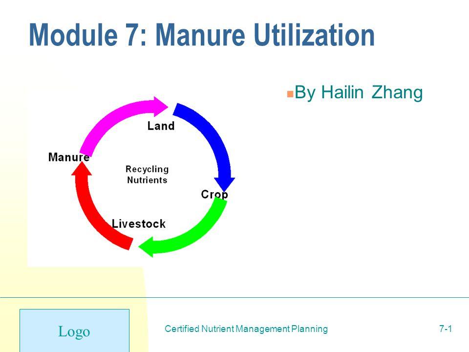 Logo Certified Nutrient Management Planning7-1 Module 7: Manure ...