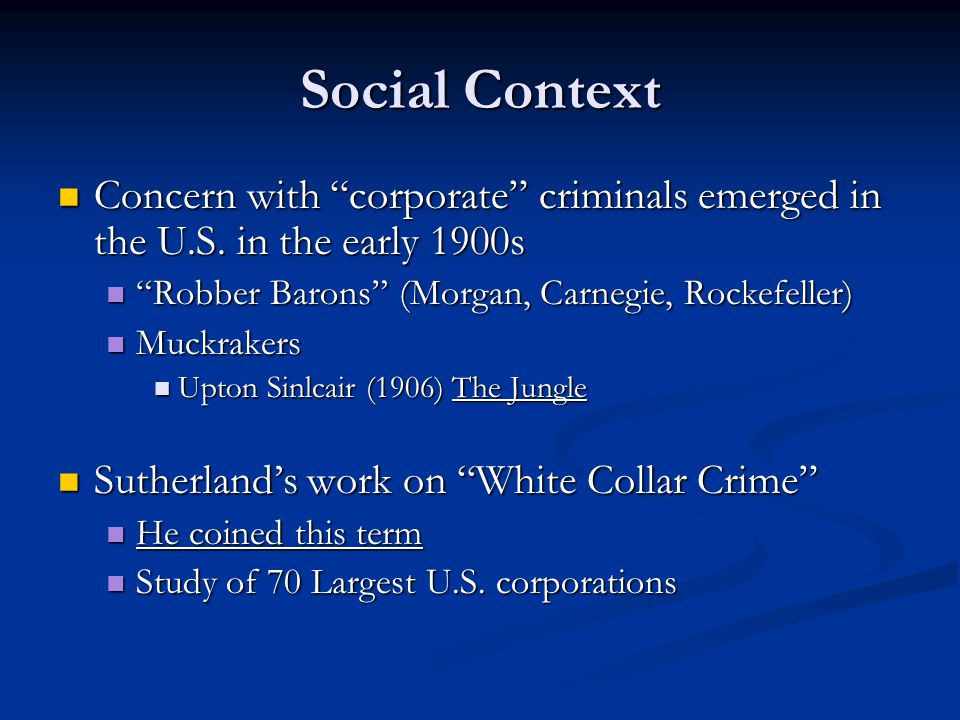 essay white collar corporate crime Impact of white collar crime on society impact of white collar crime on society research papers delve into the impact of people that have authoritative positions, and commit crimes, and how society responds to it.