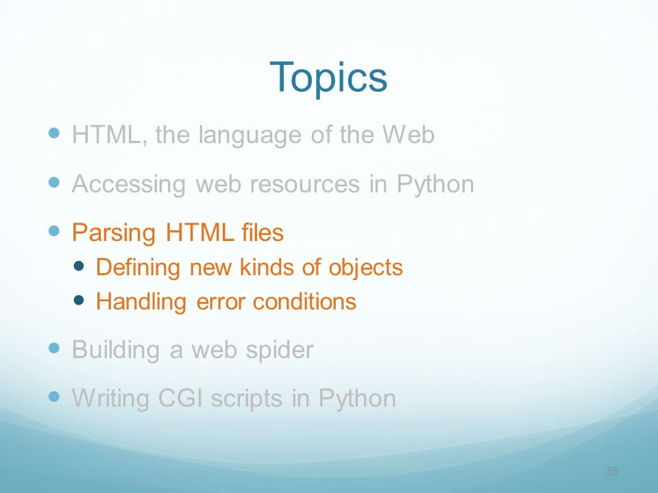 1 Working with the Web in Python CSC 161: The Art of