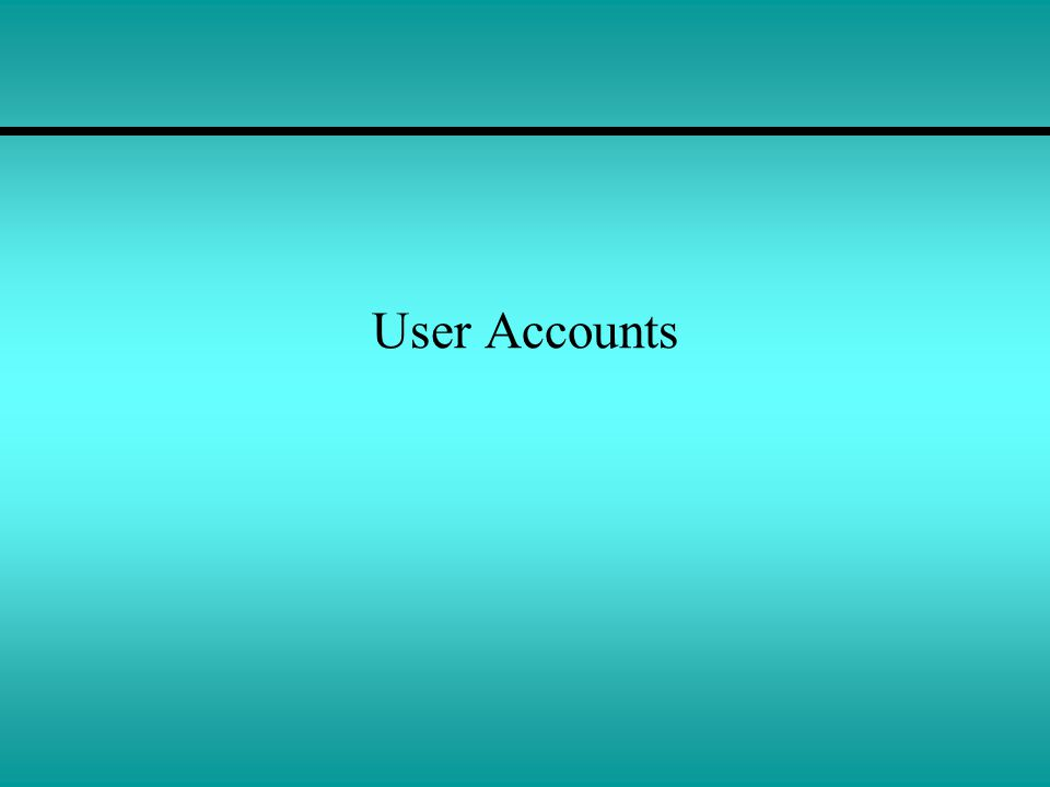 User Accounts