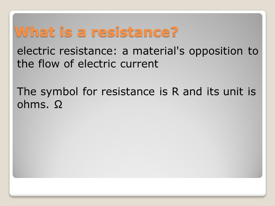 Unit 3 Simple Circuits Electric Current Voltage Produces A Flow Of