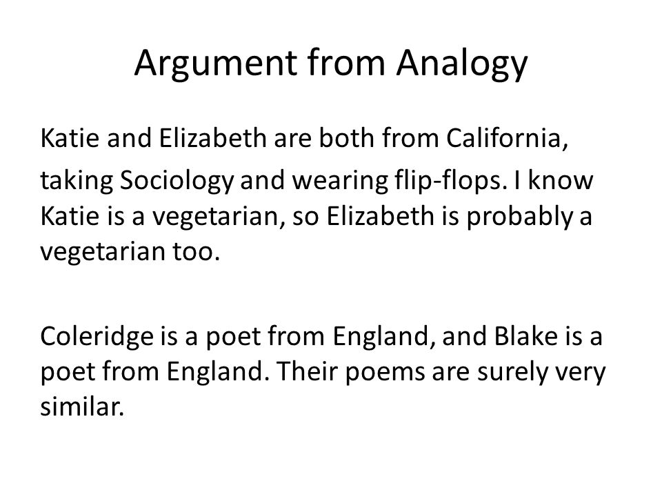 Examples Of Arguments By Analogy Image Collections Example Cover