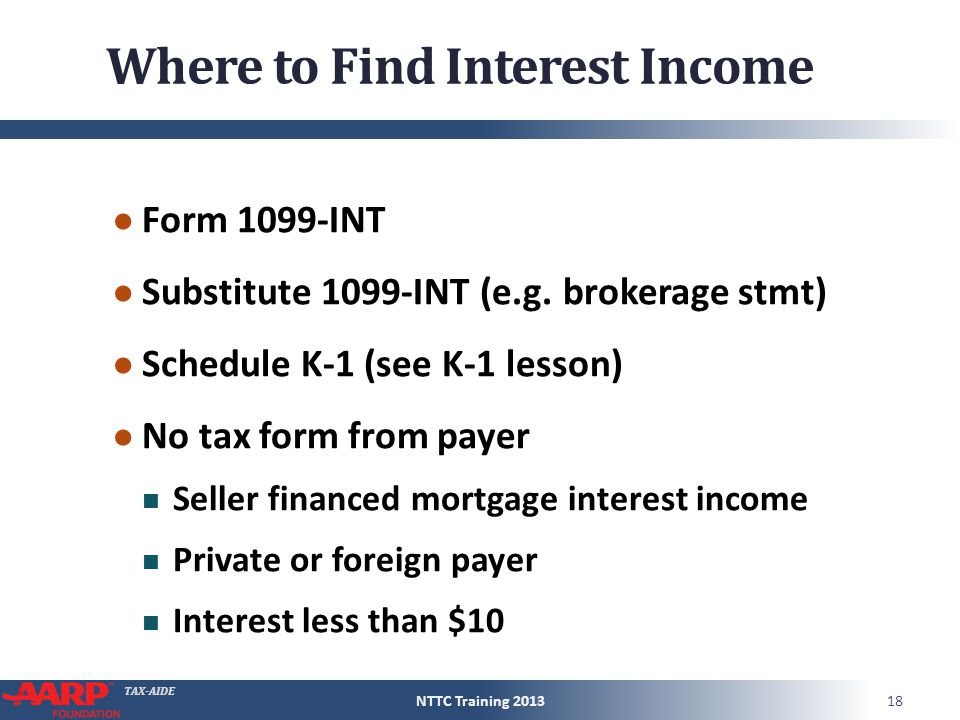 Tax Aide Interest And Dividend Income Form 1040lines 8 9 Pub 4012d 7