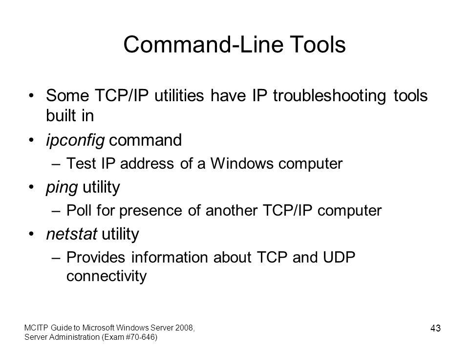 MCITP Guide to Microsoft Windows Server 2008 Server Administration
