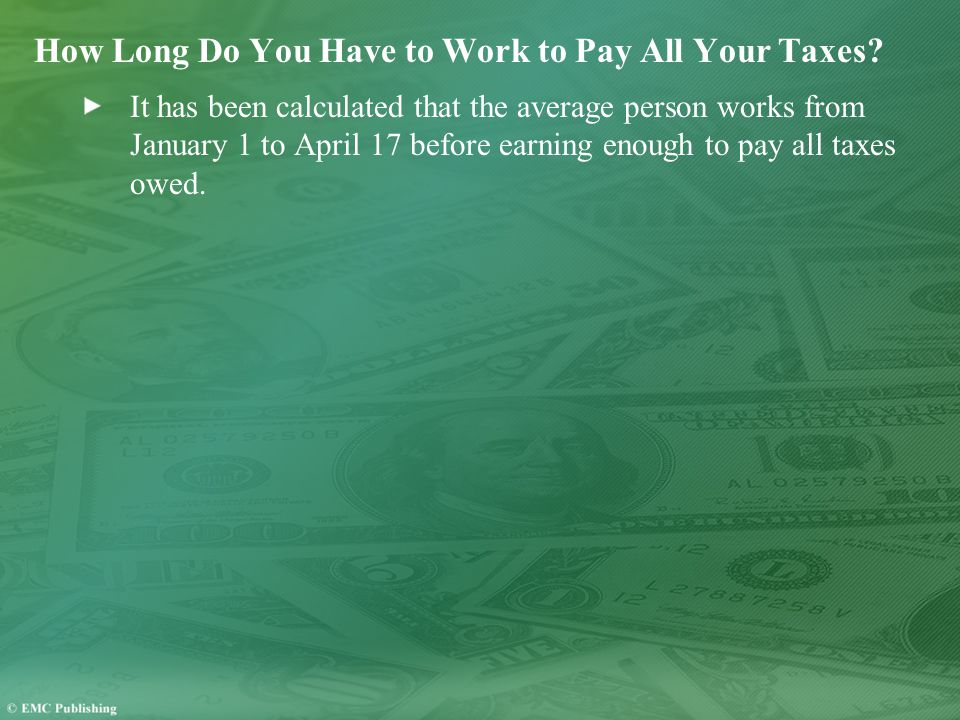 How Long Do You Have to Work to Pay All Your Taxes.