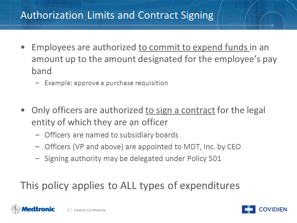 January 20, 2015 Policy 501: Expenditure and Contract Signing ...