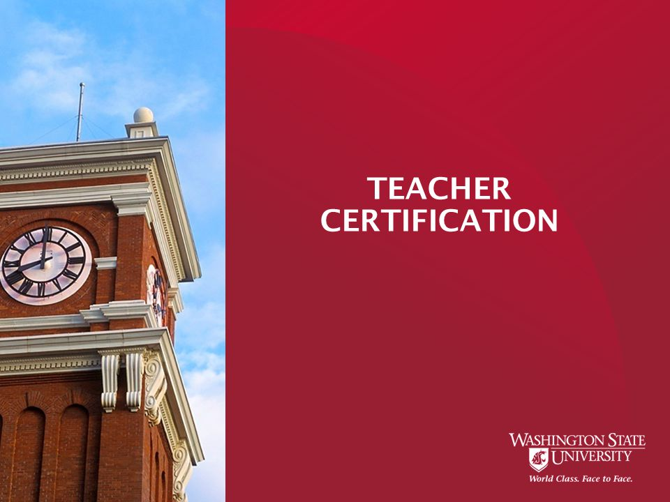 TEACHER CERTIFICATION. Intern Substitute Certificates Apply through ...