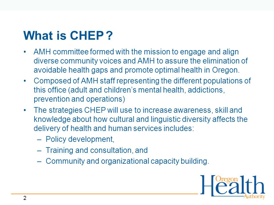 2 What is CHEP.