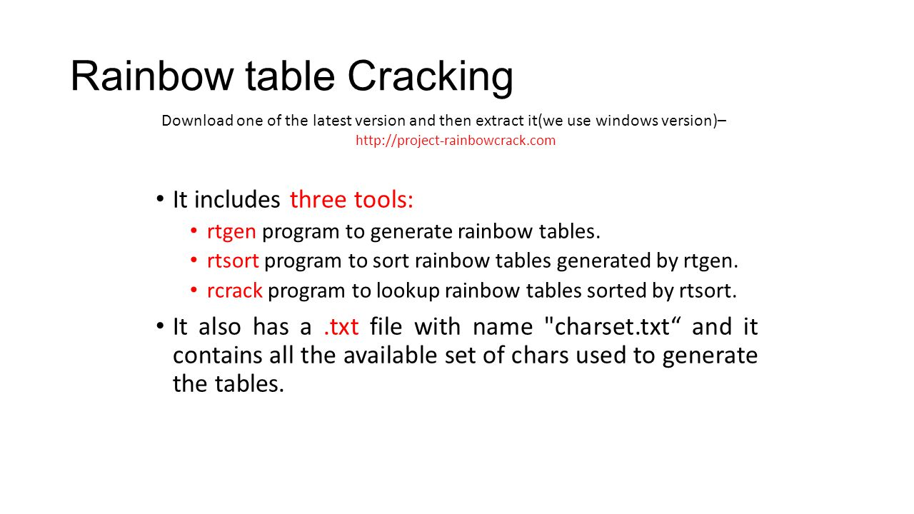What are Rainbow Tables? Passwords stored in computers are changed