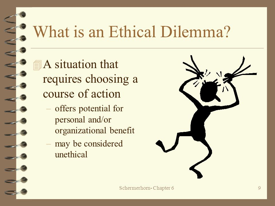 Schermerhorn- Chapter 69 What is an Ethical Dilemma.