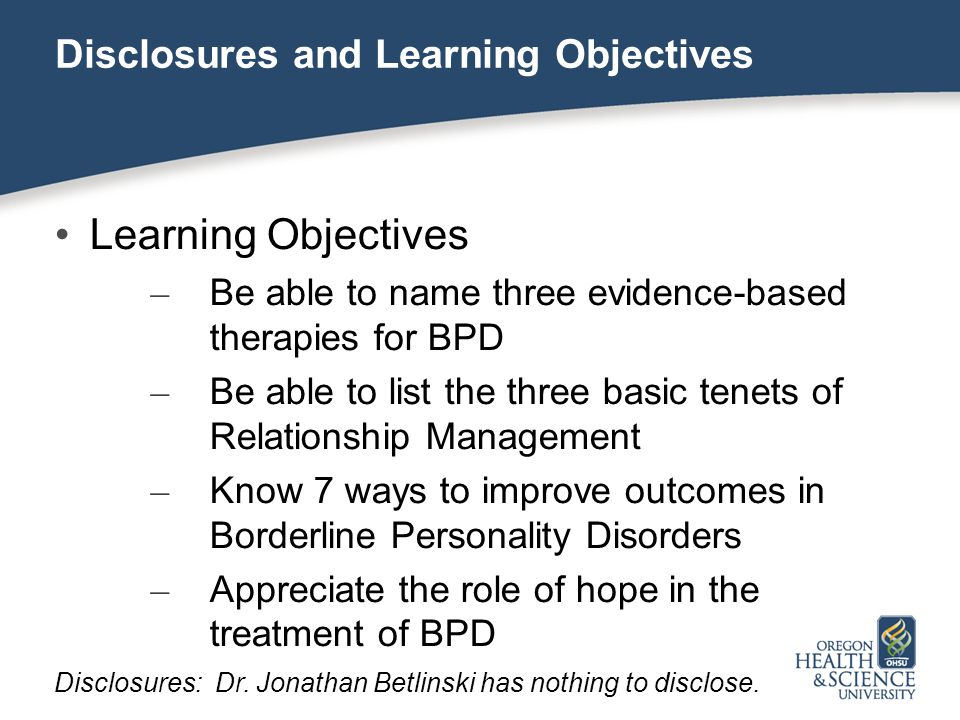 Treating Borderline Personality Disorder in the Primary Care
