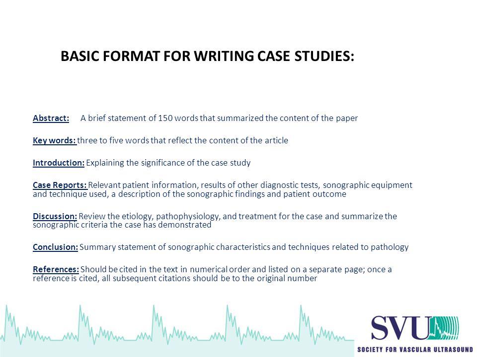 how do you write a case study