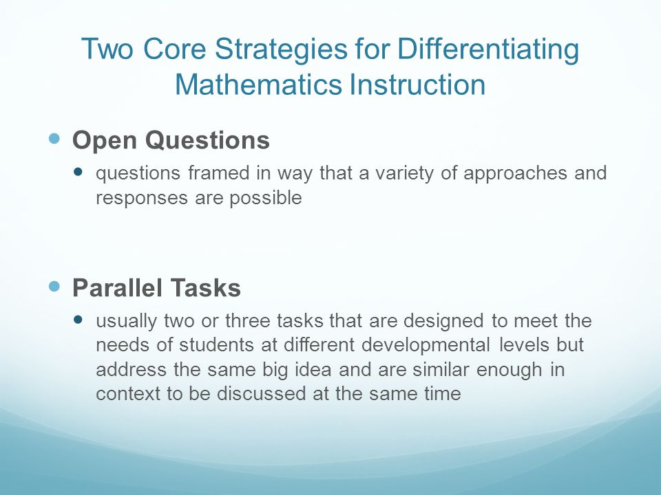 More Ways To Differentiate Instruction In Mathematics Heather Hardin