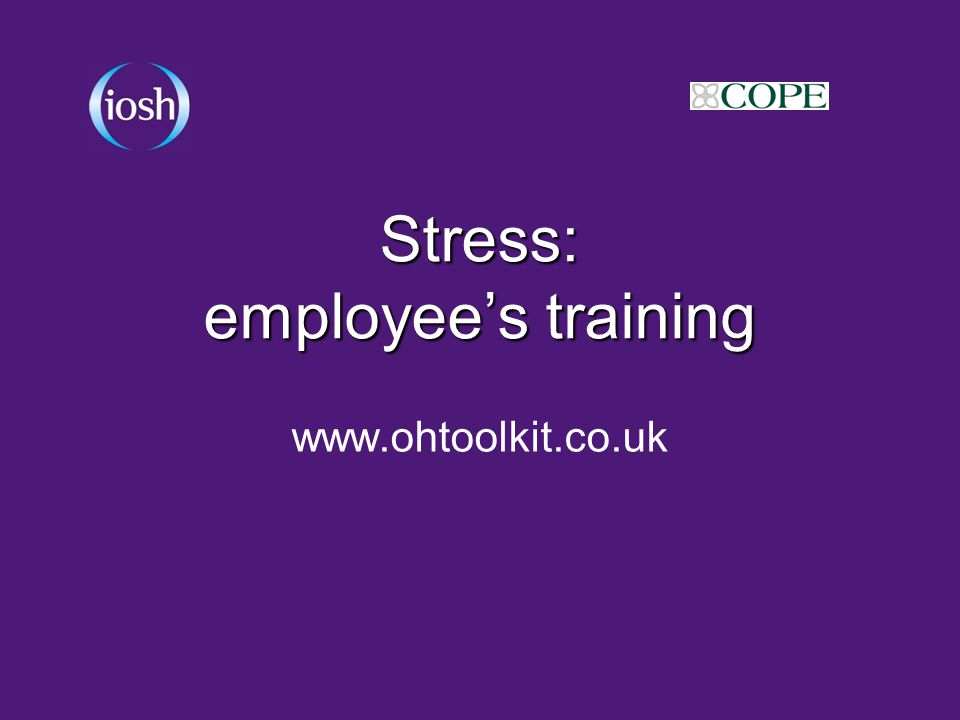 Stress: employee's training