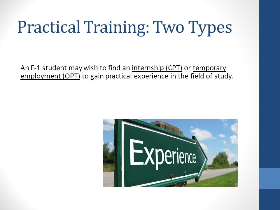 Curricular Practical Training for F-1 Students University of Oklahoma International Student Services 729 Elm Avenue Norman, OK