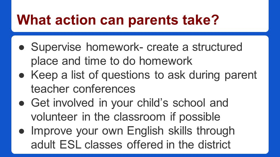 English Learners The Common Core And Eld Standards A Parent Guide