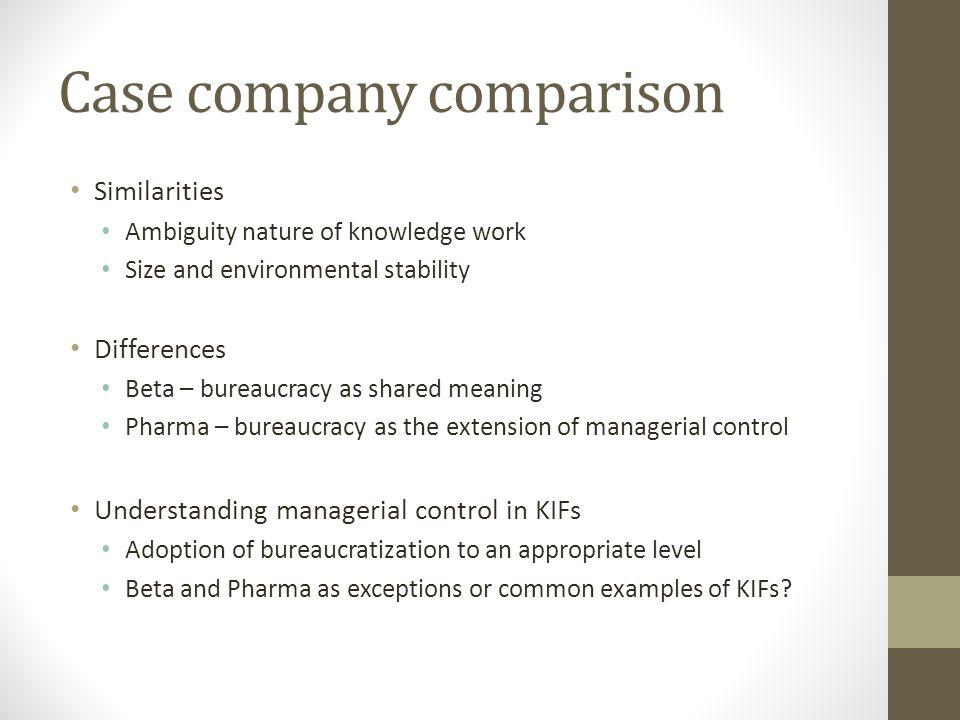 bureaucratization examples