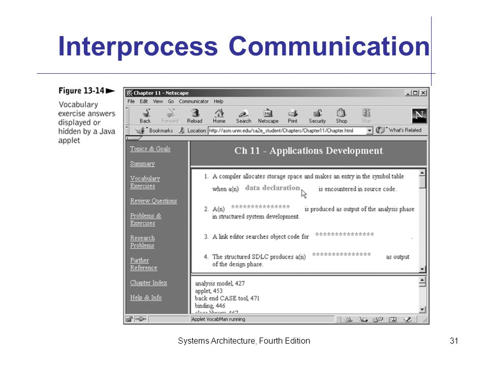 Systems Architecture, Fourth Edition31 Interprocess Communication