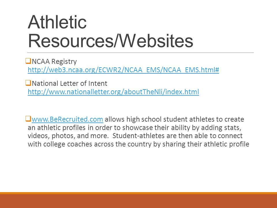 College Athletics INTRODUCTION AND RESOURCES Basic Information