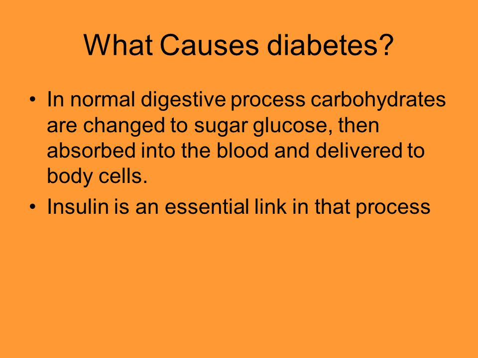 What Causes diabetes.