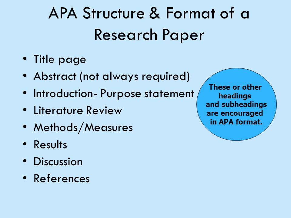 what is the purpose of apa format
