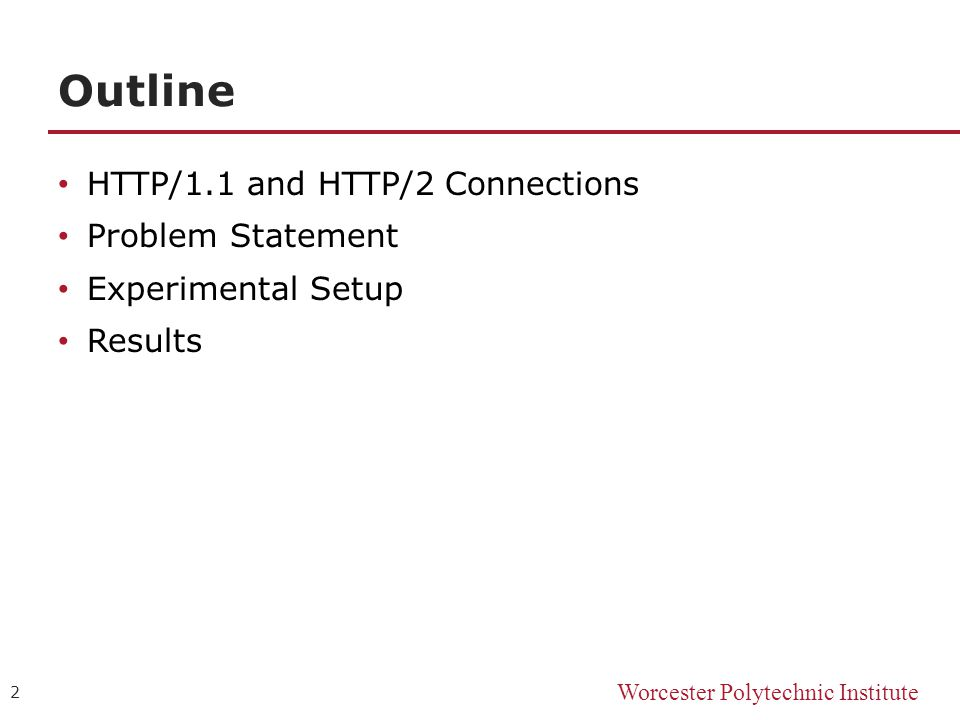 Performance Comparison of Congested HTTP/2 Links Brian Card, CS /7/ ppt  download