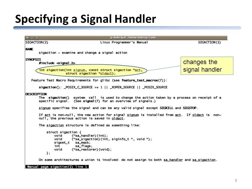 CSc 352 Signal Handling in Unix Saumya Debray Dept  of