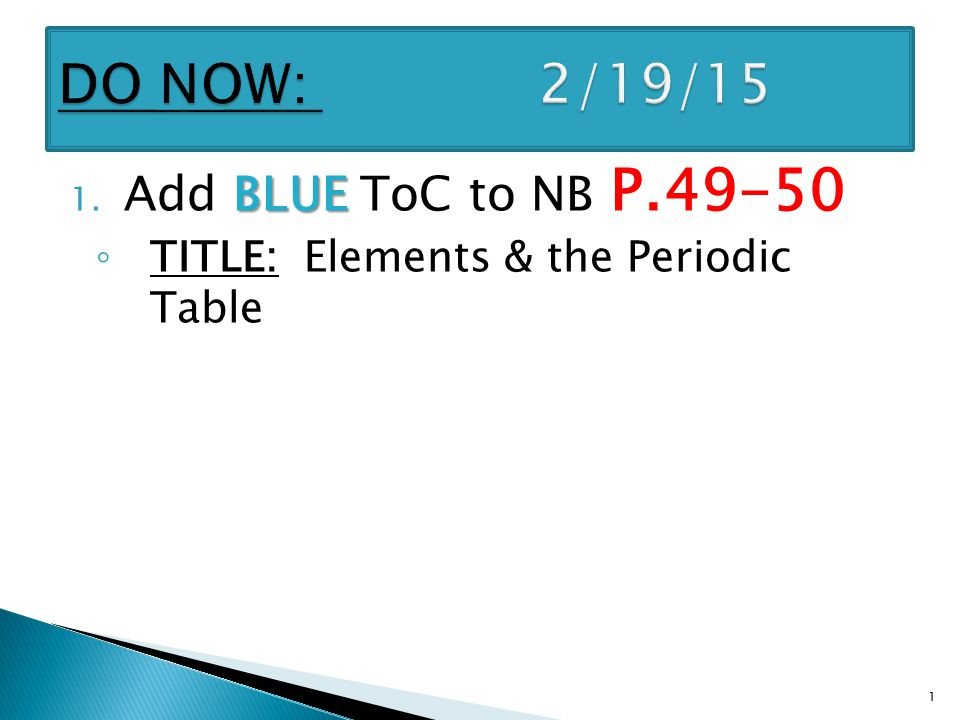 Blue 1 Add Blue Toc To Nb P Title Elements The Periodic Table