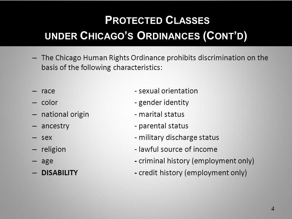 Sexual orientation protected class chicago