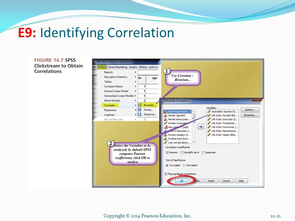 Copyright © 2014 Pearson Education, Inc E9: Identifying Correlation
