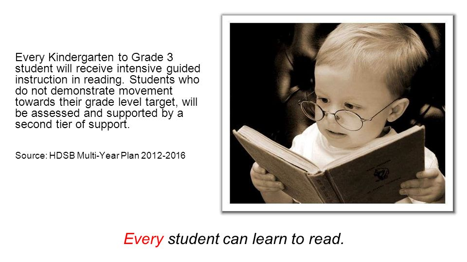 Every student can learn to read.