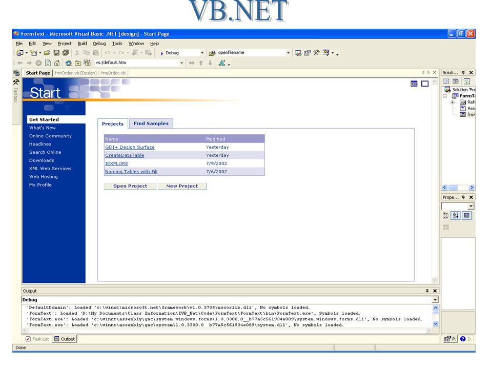 Visual Basic NET Control Naming Summary Prefix Visual Basic
