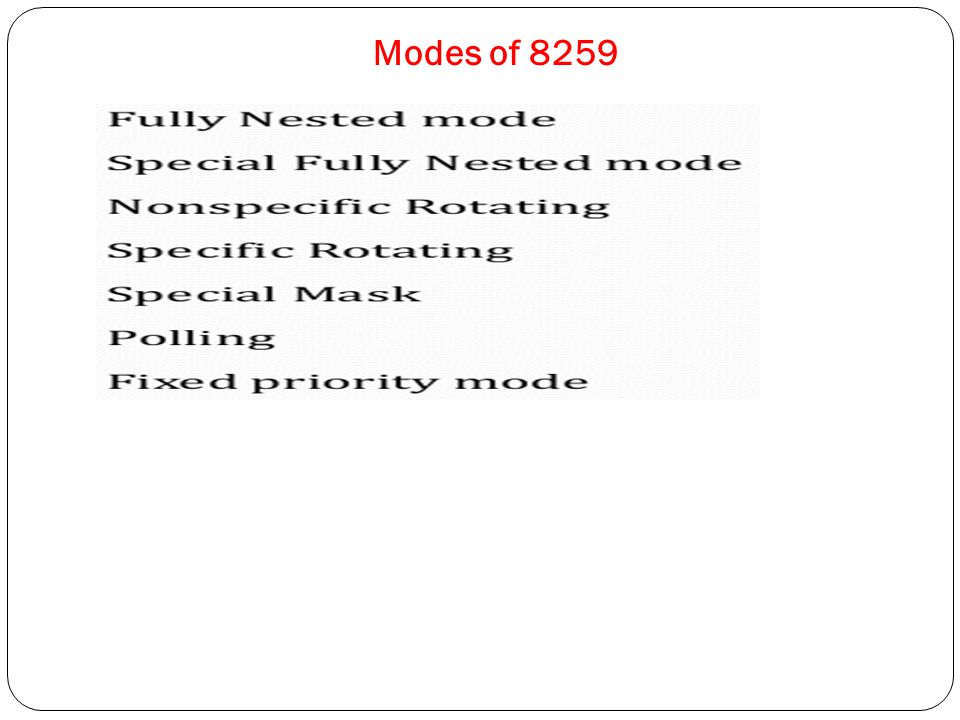 Modes of 8259